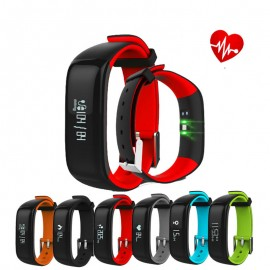 0.86inch OLED P1 Heart Rate Blood Pressure Monitor Waterproof bluetooth Smart Bracelet For iphone X 8/8