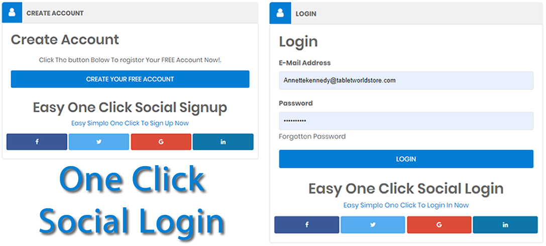 One Click Social Login And Signup Easily And Quickly Now