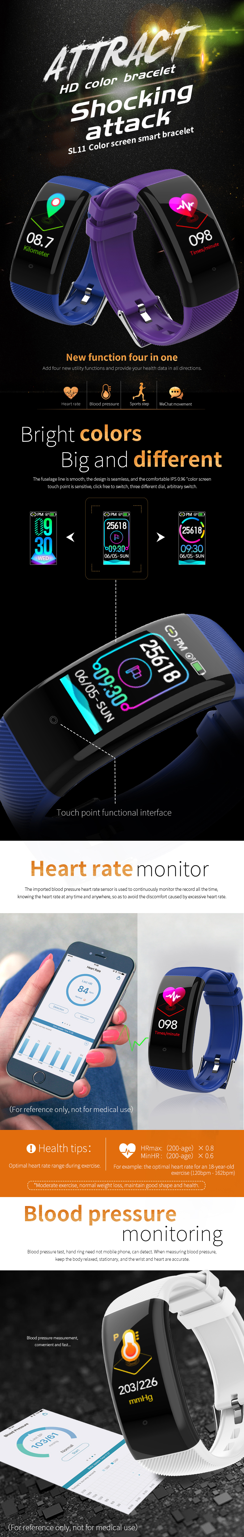 Bakeey-SL11-Multi-UI-Display-HD-Color-Screen-Wristband-Heart-Rate-and-Blood-Pressure-Monitor-IP68-Sm-1508679